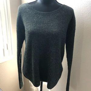 Express crew neck gray sweater